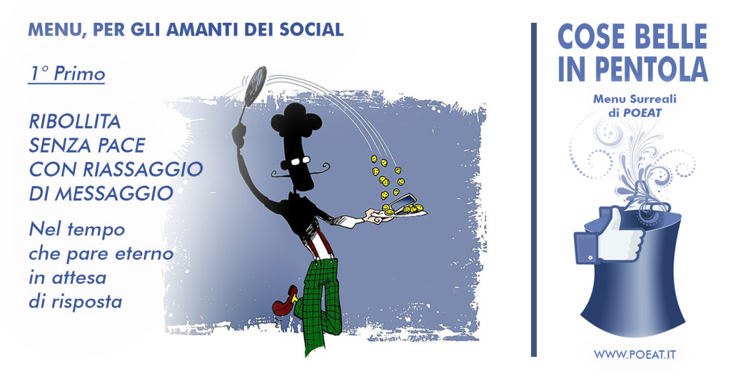 menu surreale social di POEAT